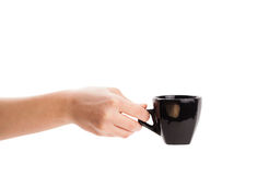 Coffee-cup with white copy space Stock Photo