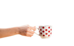 Coffee-cup with white copy space Royalty Free Stock Image