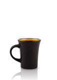 Coffee-cup with white copy space Stock Photography
