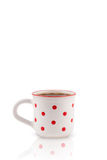 Coffee-cup with white copy space Royalty Free Stock Photos