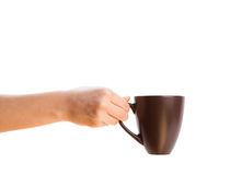 Coffee-cup with white copy space Stock Photos
