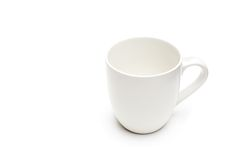 Coffee cup white isolated Stock Images