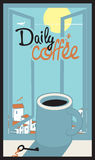 Daily coffee cup Royalty Free Stock Photo
