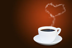 Coffee Cup With Steam Royalty Free Stock Image