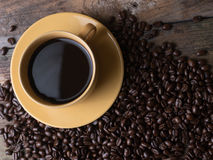 Coffee Cup on the wood Royalty Free Stock Image
