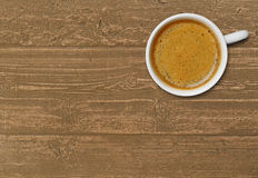 Coffee cup on wood Royalty Free Stock Photos