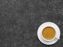 Coffee cup on wood Stock Images