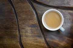 Coffee cup on wood table. Stock Photos