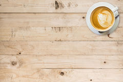 Coffee cup on wood table. With space Royalty Free Stock Images