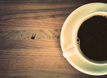 Coffee cup on wood Royalty Free Stock Photo