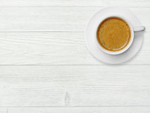 Coffee cup on wood Royalty Free Stock Photography