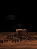 Coffee cup on a wooden backgound. Royalty Free Stock Photo