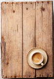 Coffee cup. On wooden background Stock Images