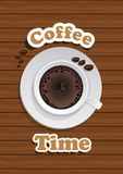 Coffee Cup. On wooden background Royalty Free Illustration