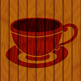 Coffee cup on a wooden background Stock Photos