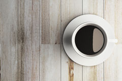 Coffee cup on wooden Stock Photo