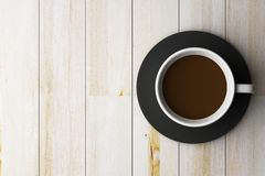 Coffee cup on wooden Royalty Free Stock Images