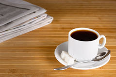 Coffee cup  on the wooden table Royalty Free Stock Image