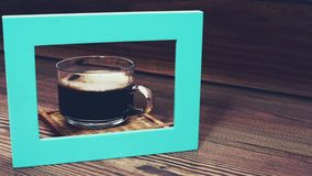 Coffee cup on wooden table Royalty Free Stock Photos