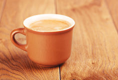 Coffee Cup On Wooden Table Stock Photo