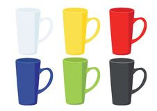 Coffee cup White on white background vector illustration