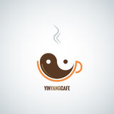 Coffee cup yin yang background Stock Photography