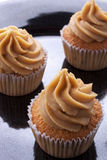 Coffee cupcake. Including a coffee buttercream icing on top royalty free stock images