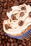 Coffee cupcake Stock Photo