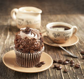 Coffee cupcake Royalty Free Stock Image