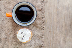 Coffee and Cupcake Royalty Free Stock Photography