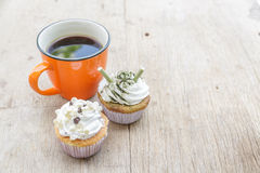 Coffee and Cupcake Stock Images