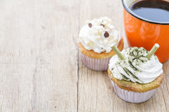 Coffee and Cupcake Royalty Free Stock Image
