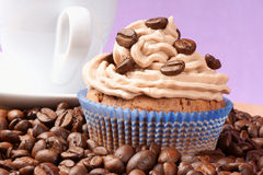 Coffee cupcake and espresso Stock Photography