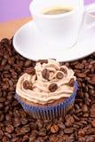 Coffee cupcake and espresso Stock Photos