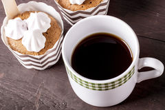Coffee with cupcakes Royalty Free Stock Image