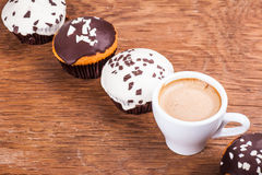 Coffee and cupcakes Royalty Free Stock Photo