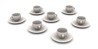 Coffee Cups Stock Photography