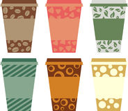 Coffee cups. Illustration of colourful coffee cup collection Royalty Free Stock Photography