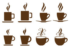 Coffee cups. Icons. Vector illustration Royalty Free Stock Images