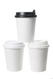 Coffee Cups. On White Background Royalty Free Stock Image