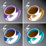 Coffee Cups. An illustration of four coffee cups set, isolated on white background. Also available in vector format Royalty Free Stock Image