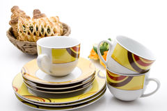 Coffee Cups And Plates Royalty Free Stock Images