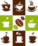 Coffee cups background Stock Image