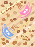 Coffee cups background Royalty Free Stock Photo