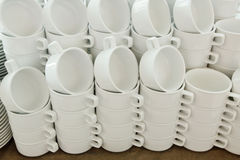 Coffee cups background. Stock Photos