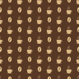 Coffee cups and beans seed. Royalty Free Stock Images