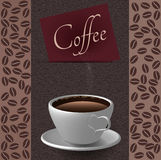Coffee cups and coffee bean background Stock Images