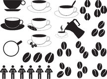Coffee cups and coffee beans Royalty Free Stock Image