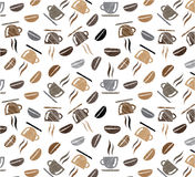 Coffee cups  Coffee  pattern background Stock Photo