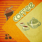 Coffee cups, coffee pot, coffee mill Royalty Free Stock Photo